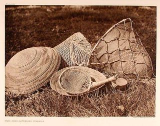 Pomo Seed-Gathering Utensils. Edward Sheriff CURTIS