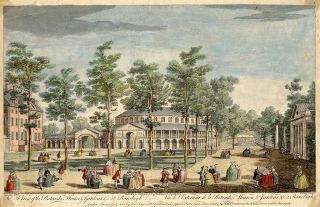 A View of the Rotunda House & Gardens, & c. at Ranelagh: Vüe de l'Exterieur de la Rotonde,...