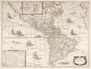 The World and Continents - Five Maps]. Henricus HONDIUS, Jan JANSSON, 1597 - 1651