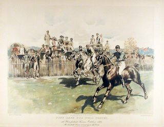 Pony Race for Polo Ponies. W. S. Vanderbilt ALLEN.