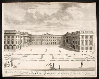 """A Pair: """"The North Prospect of the New Quadrangle of Christs Church in Oxford""""; """"The South Prospect of the New Quadrangle of Christs Church in Oxford"""""""