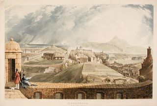 Edinburgh, From the Castle. Thomas after John GENDALL SUTHERLAND, b. 1785