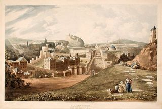 Edinburgh, From the Calton Hill. Thomas after John GENDALL SUTHERLAND, b. 1785