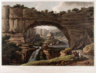 Suite of six views: [1]: [Bareges in the Pyrenees] after a painting by G. Barrett; [2]: View of the East Front of the Wonderful Natural Bridge of Veja; [3]: A View of Recoaro; [4]: [Falls of the Gava.] after a painting by G. Barrett; [5]: A View of the Lake of Wallenstat; [6]: View of the Ruins of a Roman Arch at Aix in Savoy