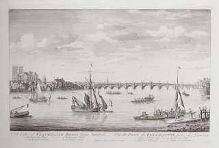 A View of Westminster Bridge from Lambeth / Vüe du Pont de Westminster, prise de Lambert. ANONYMOUS
