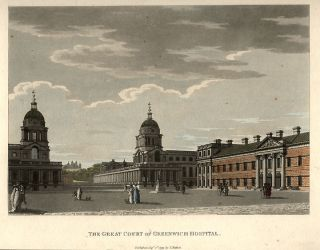 The Great Court of Greenwich Hospital. Thomas MALTON