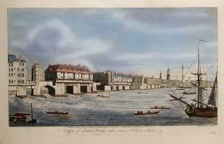 A View of London Bridge taken near St. Olave's Stairs. John BOYDELL