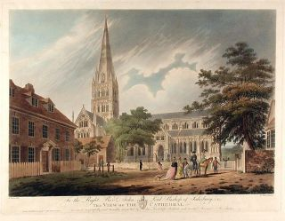 View of the Cathedral. Francis JUKES, after Edward DAYES
