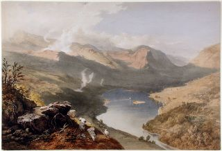 Grassmere from Loughrigg Fell. James Baker PYNE, W. GAUCI
