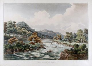 "River above the first bridge. Joseph Constantine STADLER, after John ""Warwick"" Smith"