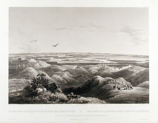 Junction of the Yellow Stone River with the Missouri. Karl BODMER
