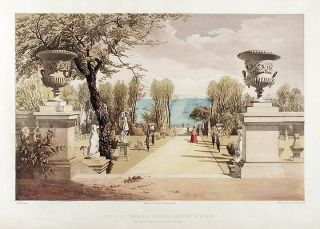 View in the Gardens at Westfield House, (Isle of Wight.) The Seat of Sir Agustus Clifford Bart....