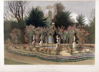 The Rose Garden. Nuneham, The Seat of G.G. Harcourt Esqre. M.P. After Edward Adveno BROOKE