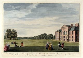 The East front of Kensington Palace, with part of the Great Lawn / Façade Orientale du Palais de...