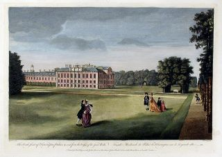 The South front of Kensington Palace, as seen from the Verges of the great Walk / Façade...