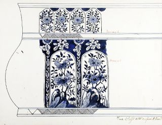 An original design for a porcelain Delft vase. SAMSON, CO, designers