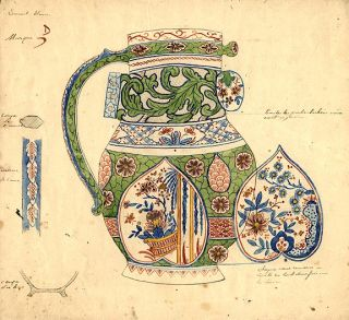 An original design for a porcelain pitcher. SAMSON, CO, designers