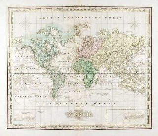 The World on Mercator's Projection. H. S. TANNER, enry, chenck.