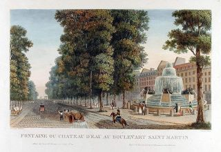 Fontaine ou Chateau d'Eau au Boulevard Saint Martin. DUBOIS after COURVOISIER