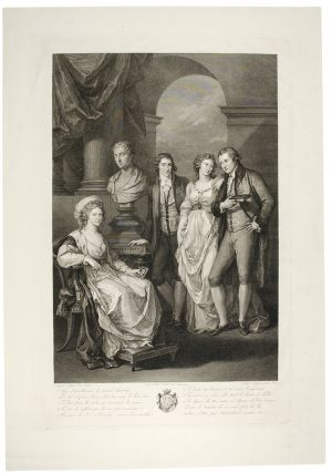 Portrait of Angelica Kauffman and Family]. Angelica KAUFFMAN, Joan BAPT. DELL'ERA, Raphael MORGHEN