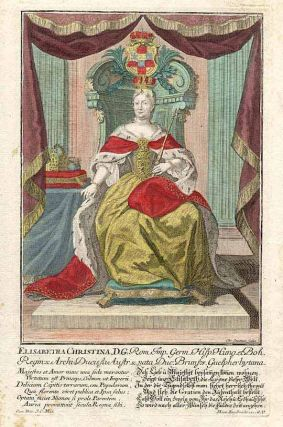 Elisabetha Christina, D. G. [Queen of Prussia, wife of Frederick the Great]. Martin ENGELBRECHT,...