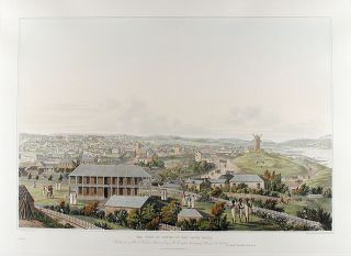 Three panoramic views of Port Jackson, in New South Wales, with the town of Sydney, and the adjacent scenery. After original drawings by … Taylor… drawn from nature… between 1817 and 1822