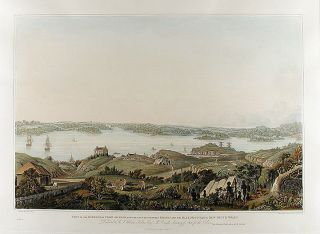 Part of the Harbour of Port Jackson, and the Country between Sydney and the Blue Mountains, New...