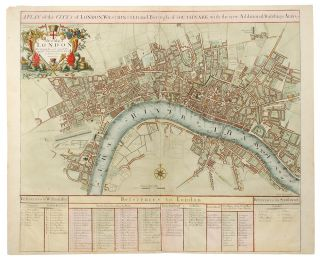 A Plan of the City's of London, Westminster and Borough of Southwark with the new Additional Buildings Anno 1720. John SENEX.