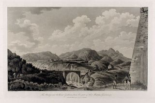 The Bridge over the River Gallions, from the foot of Fort Matilda, Guadaloupe. C. Rev WILLYAMS