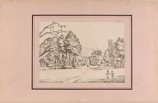 A series of three views of the Botanic Garden on the island of St. Vincent, West Indies