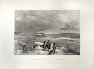 Fort Clark. On the Missouri (February 1834). Karl BODMER