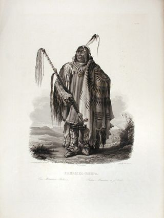 Péhriska-Rúhpa. [A Minatarre or big-bellied Indian]. Karl BODMER