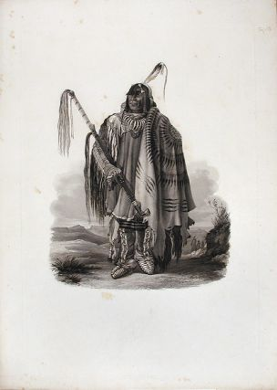 Péhriska-Rúhpa. A Minatarre or big-bellied Indian. Karl BODMER
