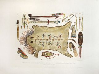 Indian Utensils and Arms. Karl BODMER