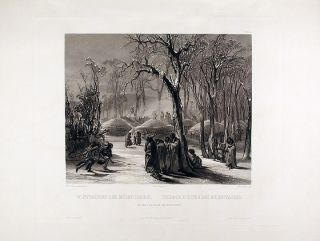 Winter Village of the Minatarres. Karl BODMER