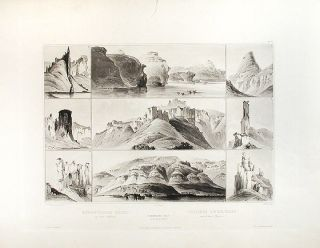 Remarkable Hills on the upper Missouri. Karl BODMER