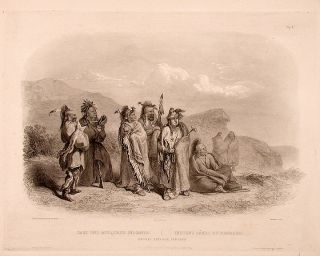 Saukie and Fox Indians. Karl BODMER