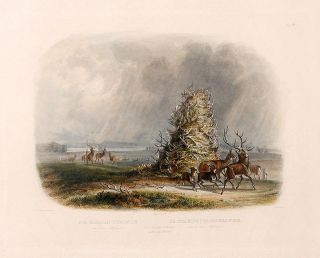 The Elkhorn Pyramid on the Upper Missouri. Karl BODMER.