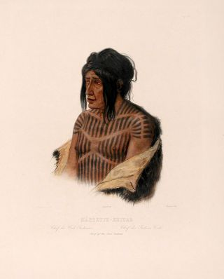 Mähsette-Kuiuab Chief of the Cree-Indians. Karl BODMER