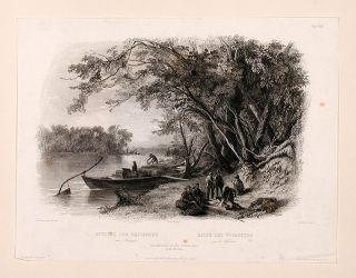 Encampment of the Travellers on the Missouri. Karl BODMER.