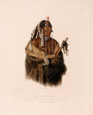 Mándeh-Páhchu. A young Mandan Indian. Karl BODMER