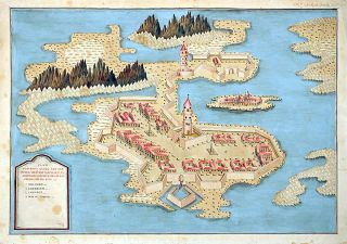 Plan of Fort George on the Island of New Britain] Plan von Fort Georg auf der insel New...