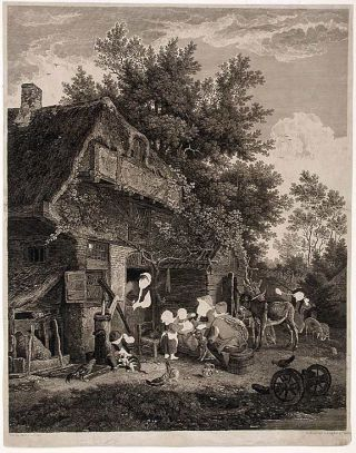 Working Proof of a Country Cottage]. John BROWNE, after a., Cor. Du SART