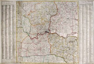 A Correct Map Shewing all Towns, Villages, Roads the Seats of ye Nobility and Gentry, Wth....