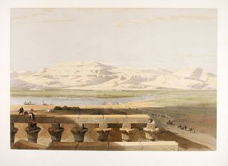 Libyan Chain of Mountains, from the Temple of Luxor. After David ROBERTS