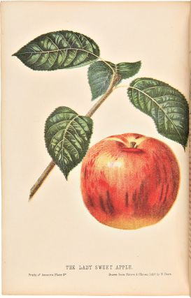 The Fruits of America, containing richly colored figures, and full descriptions of all the...