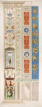Decorative pilaster with fruit, flowers, and tendrils. RAPHAEL. Raffaello Sanzio d'Urbino