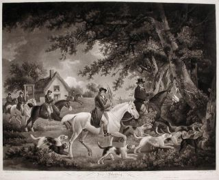 Fox Hunting, Going into Cover. George MORLAND, Edward BELL