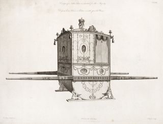 Design of a Sedan Chair as executed for Her Majesty. After Robert ADAM