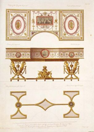 Design of a Harpsichord executed in London, with different coloured woods, for the Empress of...